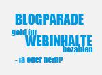 Blogparade: Geld für Webinhalte bezahlen - ja oder nein?